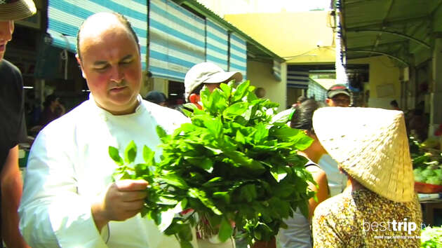 Market and Cooking with the Seabourn Chef