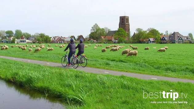 Cycling through the Dutch Countryside on an Avalon Active Shore Excursion