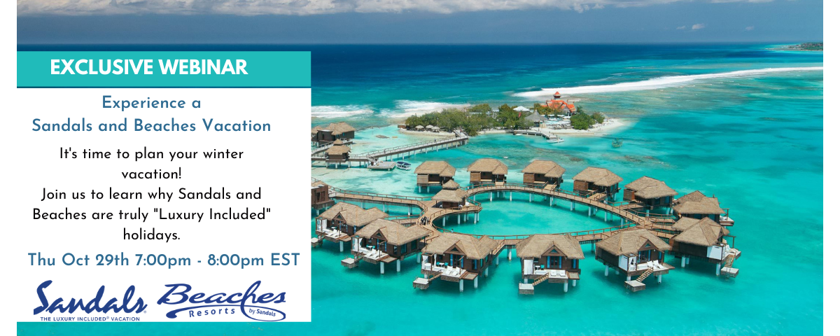 Experience a Sandals and Beaches Vacation - Exclusive Evening Presentation