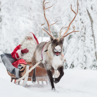 Santa's Not Just Making Toys in His Village Above the Arctic Circle in Lapland