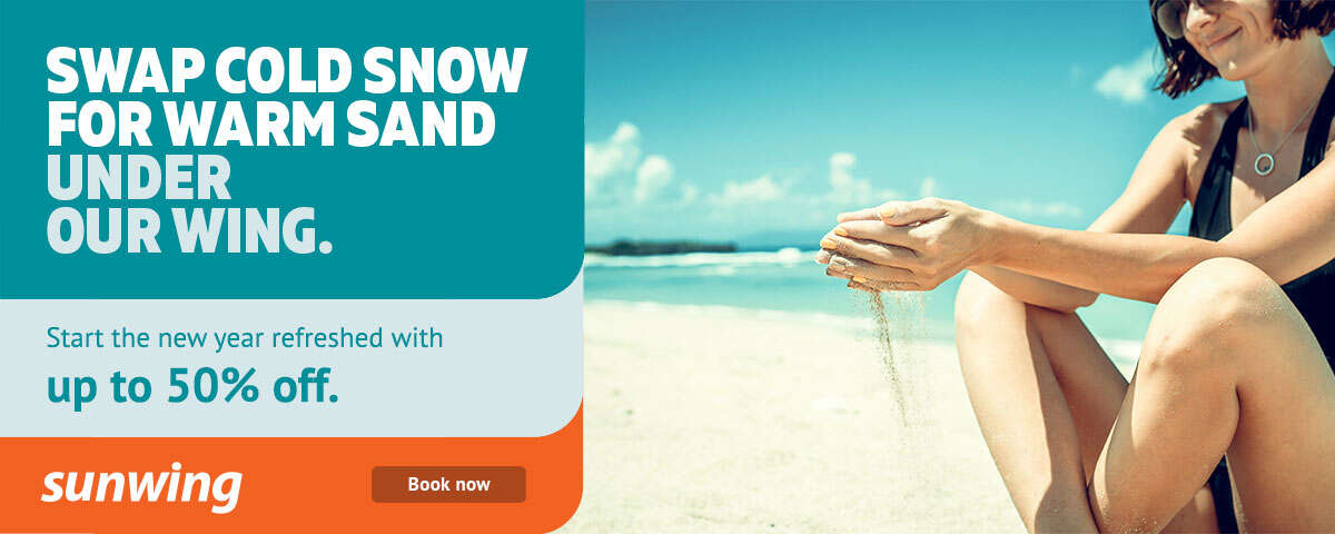 Swap Snow For Sand with Sunwing!