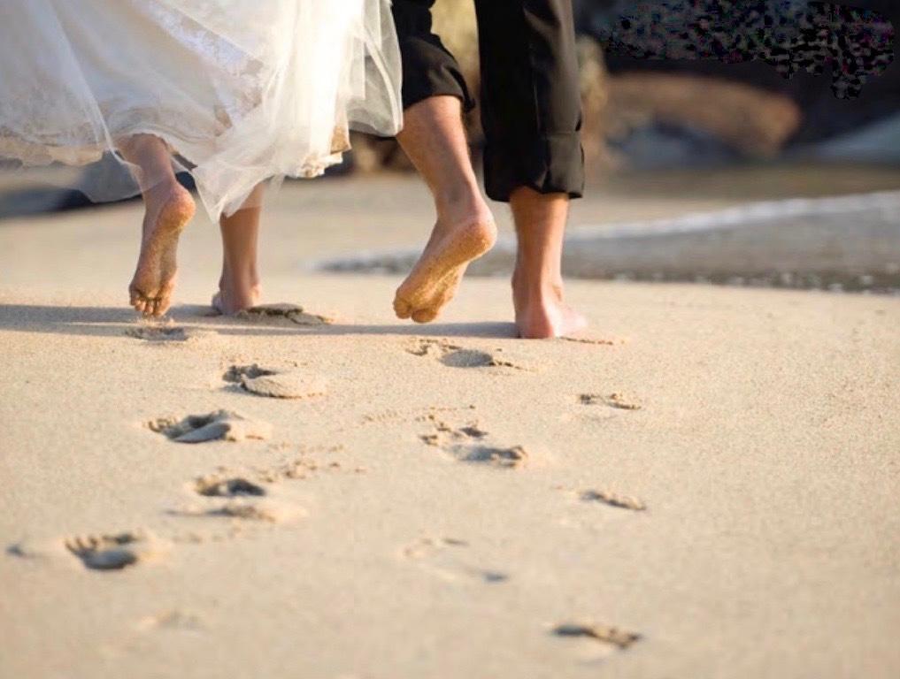 Destination Wedding Bride Groom on Beach