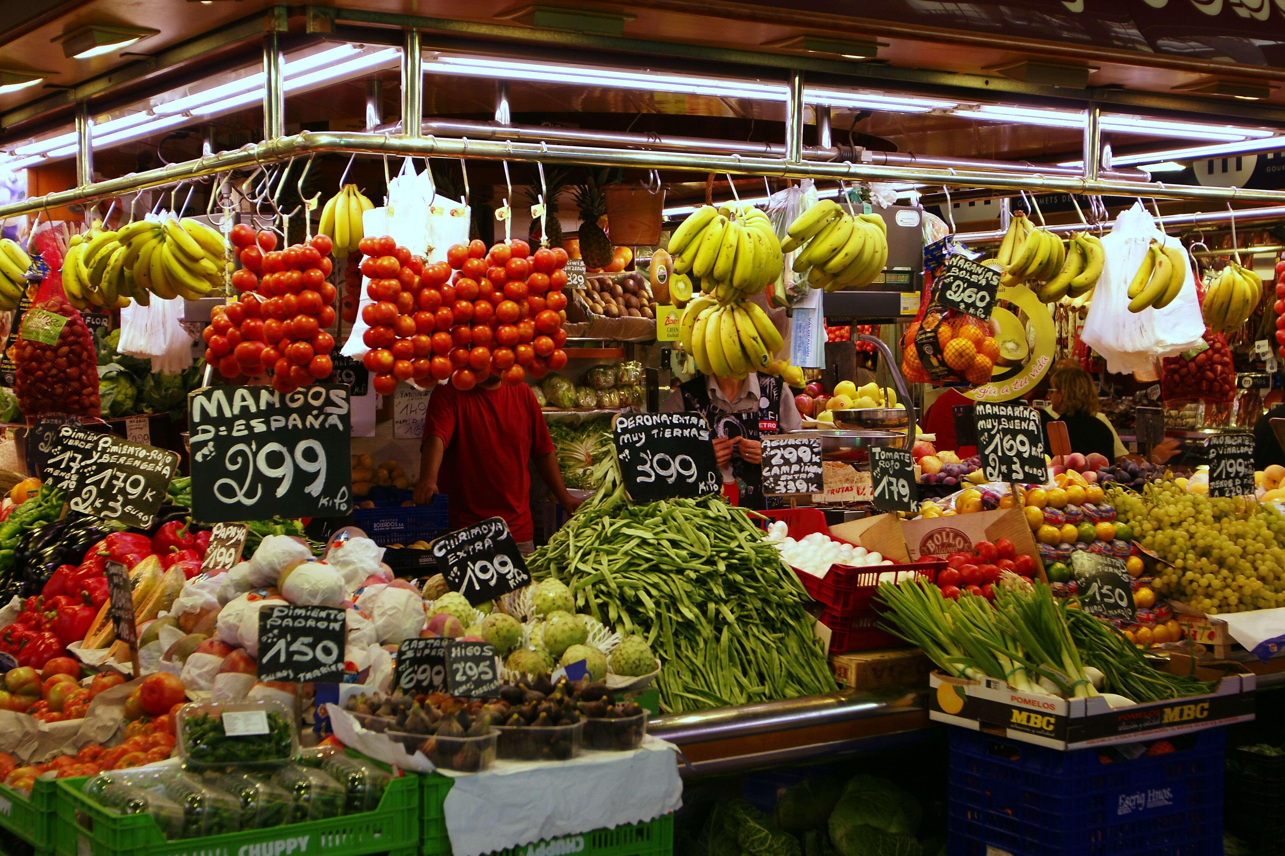 One of the best food market, Mercat de Sant Josep de la Boqueria