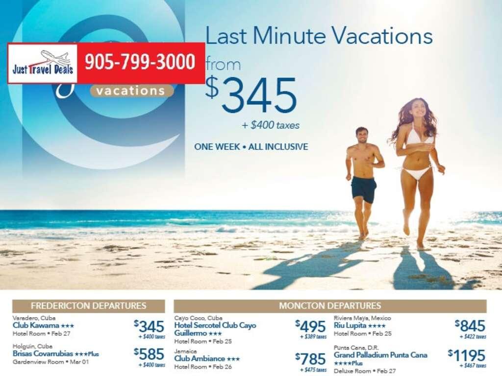 Last Minute Vacations >> Last Minute Vacations From 345 Atlantic Canada Departures