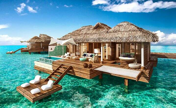 The first over-the-water bungalows in the Caribbean!