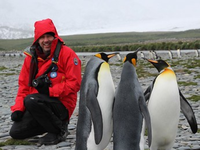 Marching with Emperor Penguins in Snowy Hill Antarctica Luxury Cruise