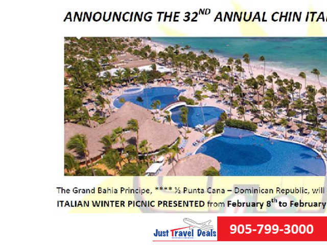 Announcing 32nd Annual CHIN Italian Winter Picnic 2020in Punta Cana