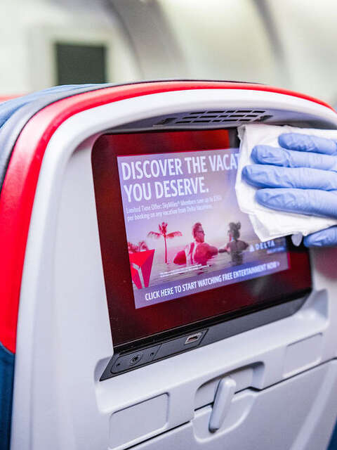 Delta delivering on new clean standard, now sanitizing every flight