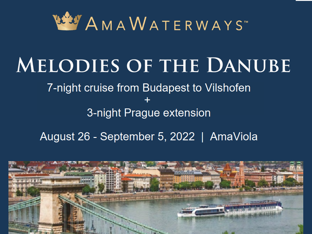 11 days Danube + Prague | AUG 2022