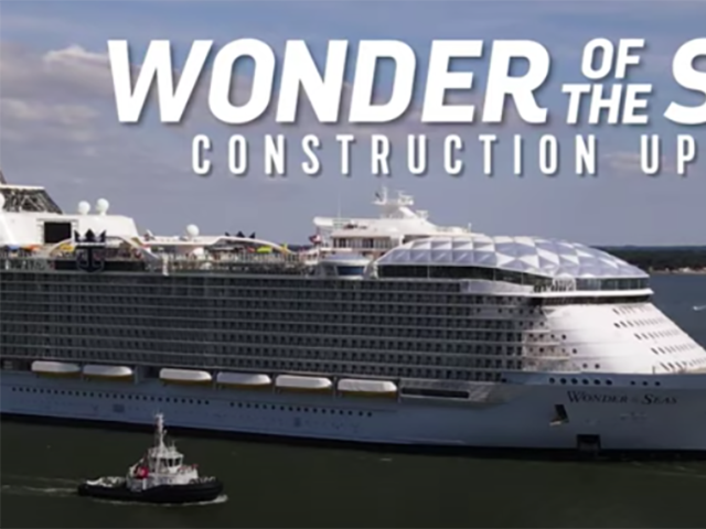 New Video from Royal Caribbean: Wonder of the Seas Construction Update – Sea Trials