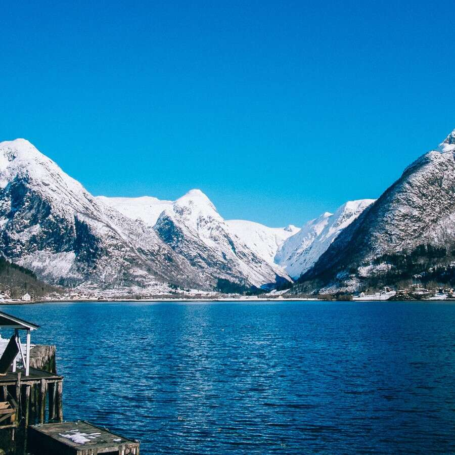 Christmas day in Norway's longest fjord   - Outside Fjærland
