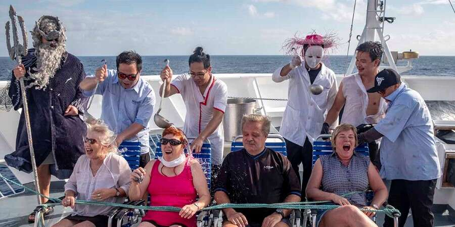 Crossing the Equator - At sea - At sea