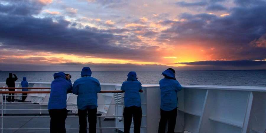 Toward Antarctica - At Sea