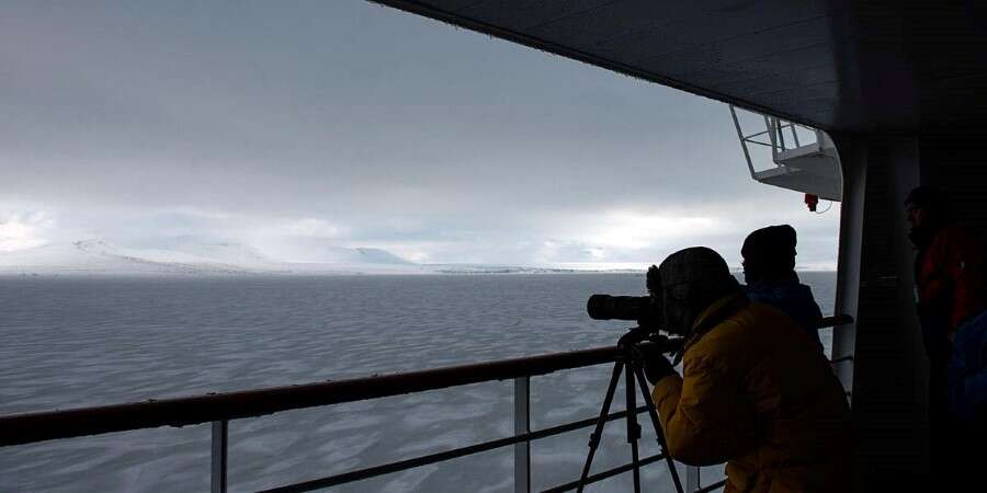 Into the Barents Sea - At Sea