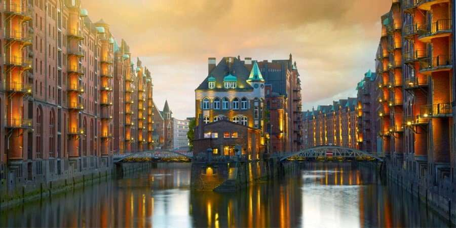 Canals and Gardens - Hamburg, Germany