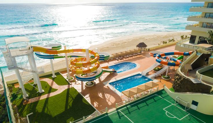 Crown Paradise Club Cancun water slide