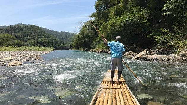 Rio Grande River on a bamboo raft.