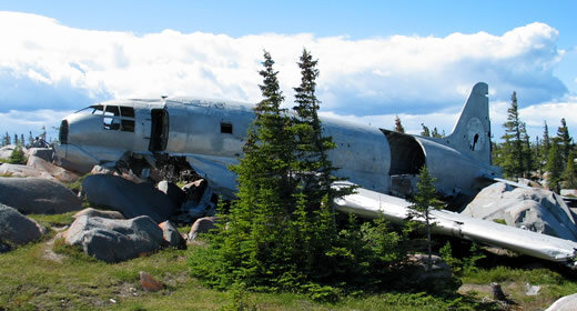 """Tour the wreckage of the famous plane, """"Miss Piggy"""" - one of the many enriching historical experiences you'll enjoy on this tour of Churchill, Manitoba."""
