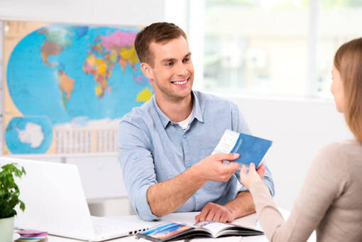 Travel Consultant Booking Trip