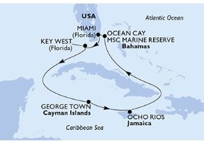 MSC Armonia    Caribbean Cruise Itinerary