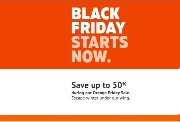 Sun Wing Orange Friday Sale