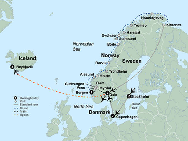Norwegian Coastal Voyage & Scandinavian Capitals