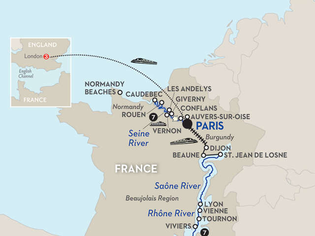Grand France with London – Northbound