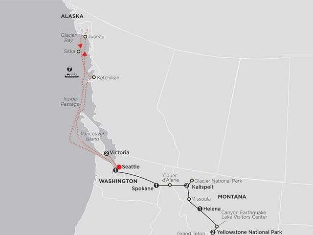 Geysers to Glaciers with Alaska Cruise