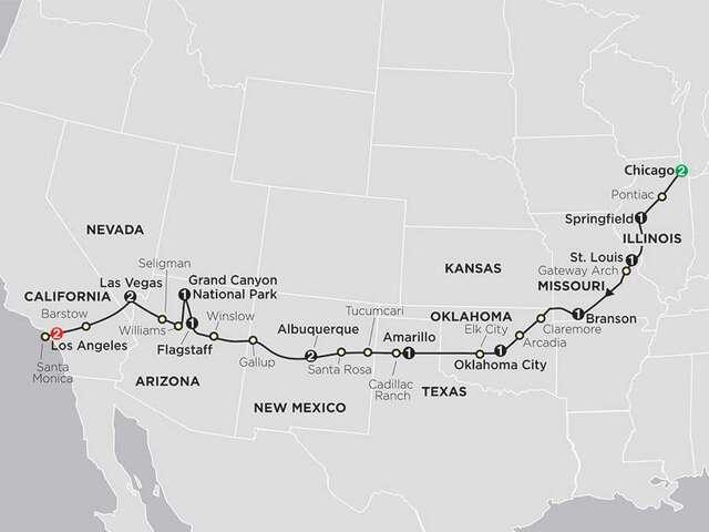 Highlights of Route 66 with Albuquerque Balloon Fiesta