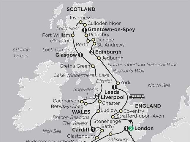 England, Scotland & Wales with  Paris