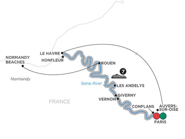Reflections on the Seine – Cruise Only Southbound
