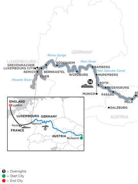 Jewels of Central Europe with 2 Nights Paris & 2 Nights London – Westbound