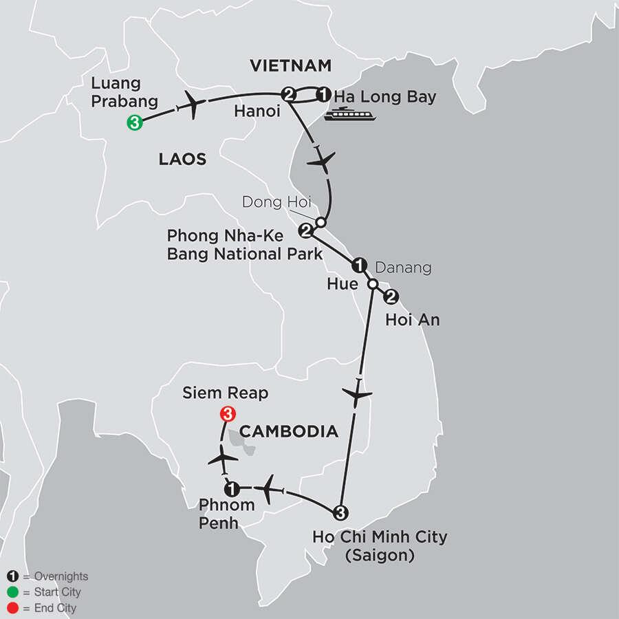 Simply Vietnam with Laos & Cambodia