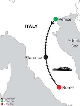 2 Nights Venice, 5 Nights Florence & 5 Nights Rome