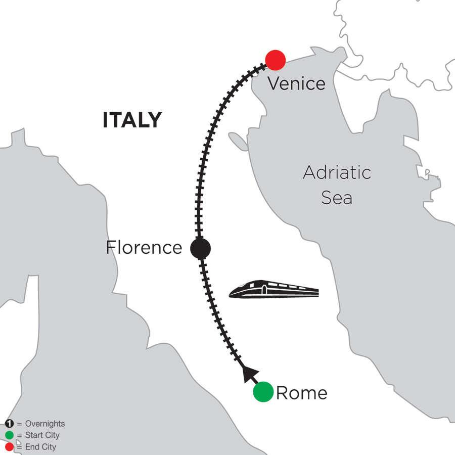 5 Nights Rome, 3 Nights Florence & 3 Nights Venice