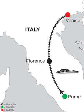 4 Nights Rome, 2 Nights Florence & 5 Nights Venice