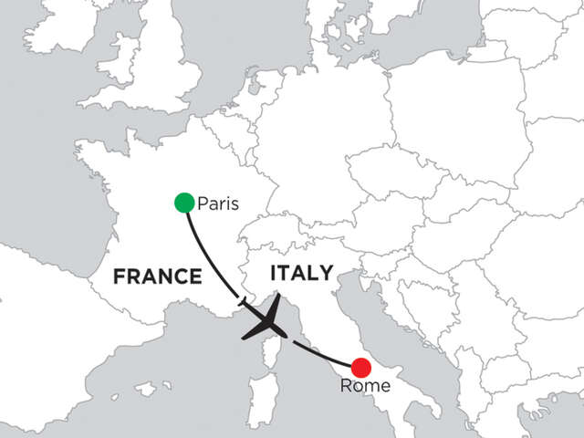 3 Nights Paris & 5 Nights Rome