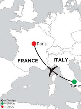 5 Nights Rome & 2 Nights Paris