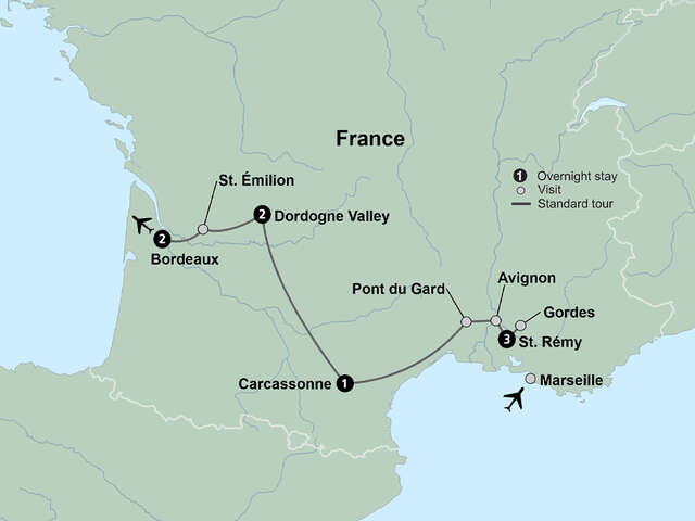 Journey through Southern France from Provence to Bordeaux